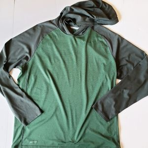 Nike Hoodied Dri Fit Long Sleeve Top